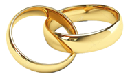 Two gold rings icon from Presidential Catering.