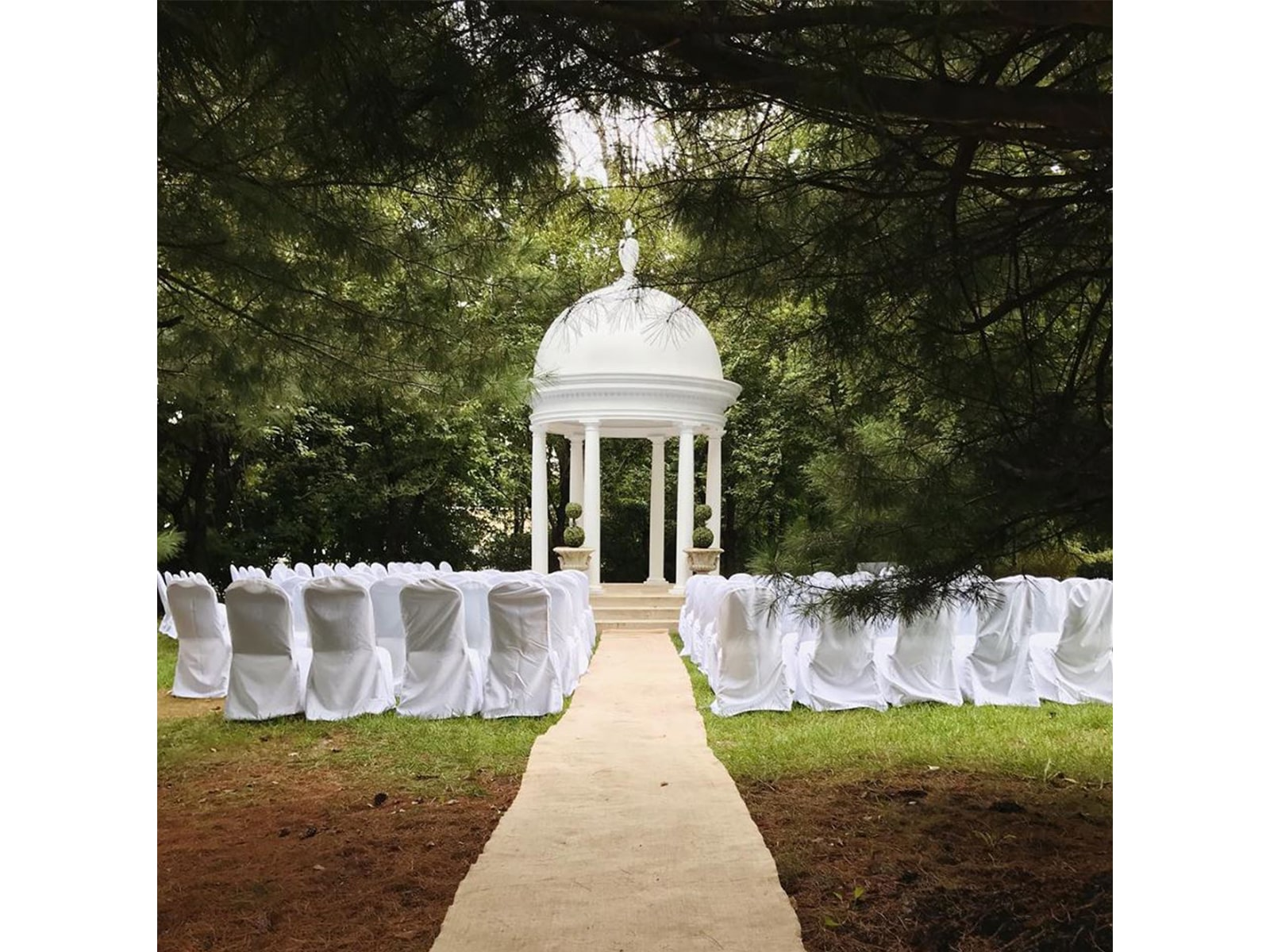 Outdoor wedding ceremony from Presidential Catering