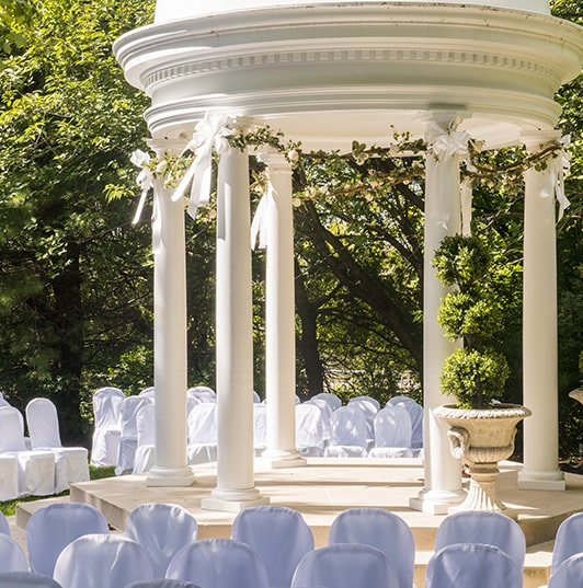 Presidential Catering wedding outdoor ceremony area.